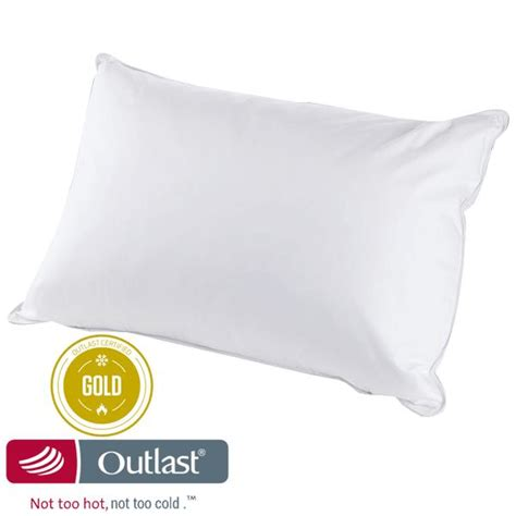 outlast temperature regulating bed pillow king size pillow outlast 174 not too hot not too cold temperature regulating