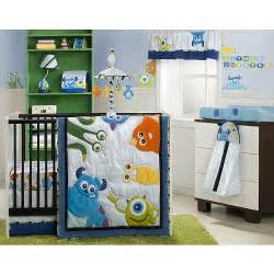 monster inc baby bedding monsters inc 4 piece crib bedding set kids line