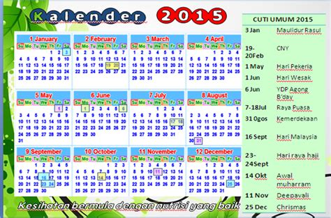 desain kalender sekolah 2015 calendar cuti 2015 new calendar template site