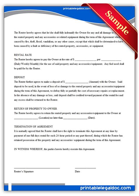 free printable residential lease form generic generic rental agreement form free printable pictures