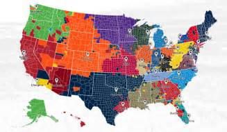 us map with nfl cities nfl fan map where are your team s followers blogs
