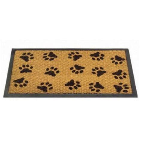 Paw Print Mat by Rubber Backed Woven Door Mat Shoes Paw Print Ebay