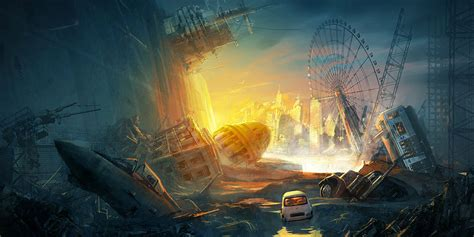 anime artwork anime artwork buildings cover background