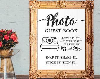 Polaroid guest book   Etsy