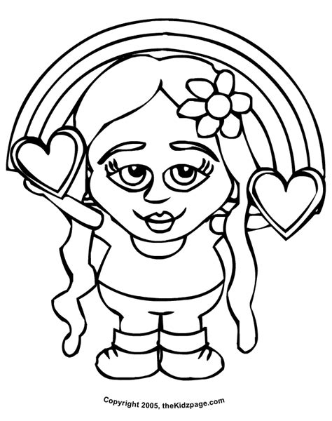 rainbow hearts coloring pages heart coloring pages for girls coloring home