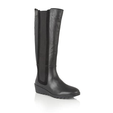 lotus boots uk lotus alona leather knee high boots boots from lotus