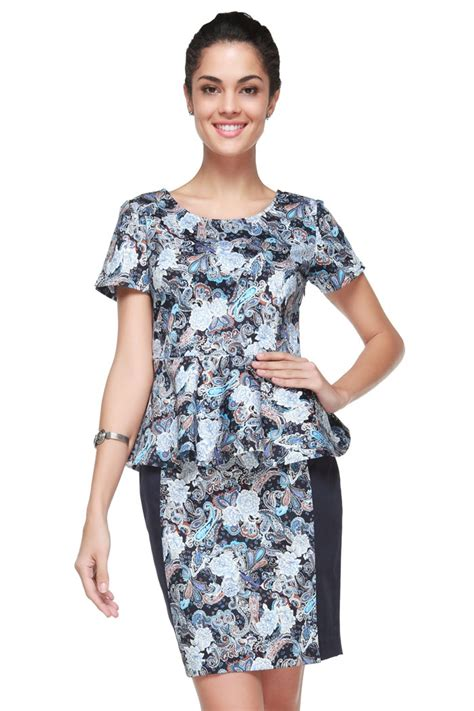 Dress Blue Batik Dress 17 best images about model baju batik on kebaya and sleeve