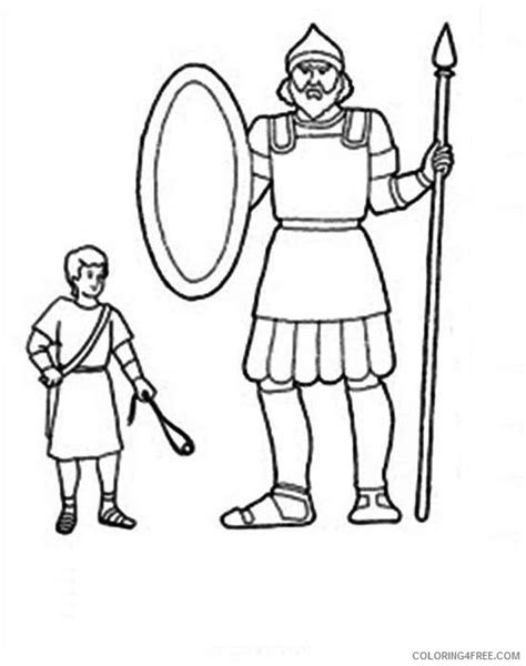 Coloring Page Goliath by Printable David And Goliath Coloring Pages For