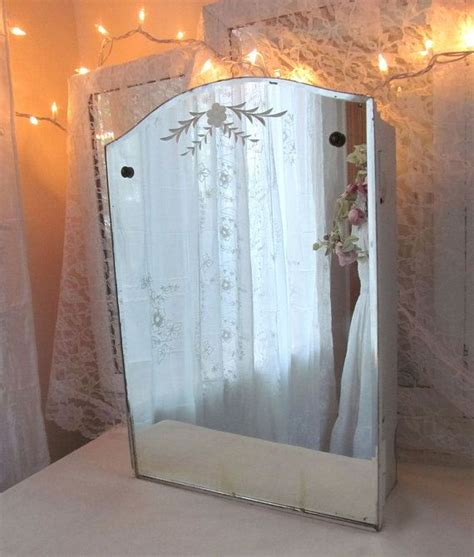 vintage medicine cabinet  mirror beveled