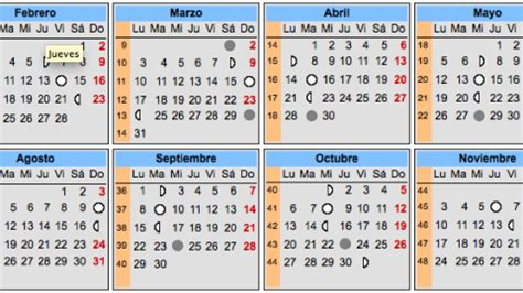 calendario lunar embarazo para 2016 calendario lunar 2015 elembarazo net
