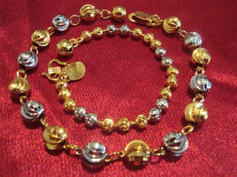 C1947 Asli Dijamin Kaki Emas gelang tangan gelang kaki rantai emas sadur untuk baby