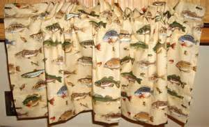 Lodge Themed Curtains Pair Of New Window Valance Curtains Cabin By Downthepathcreations