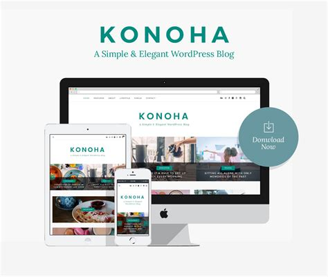 wordpress themes not blog konoha a simple elegant wordpress blog theme no