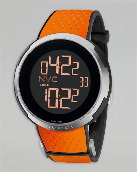 gucci digital rubber orange in orange for null