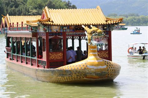 boat place riding a slow boat in china at beijing s summer palace