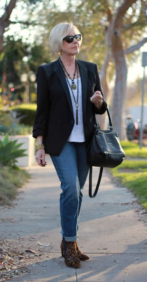 dresses with boots for women over 50 casual luxe with a tuxedo style jacket