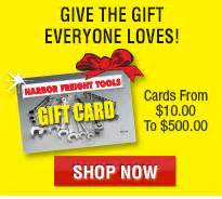 Harbor Freight Tools Gift Card - harbor freight tools quality tools at discount prices since 1977