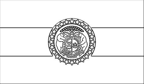 missouri state colors missouri flag coloring page purple