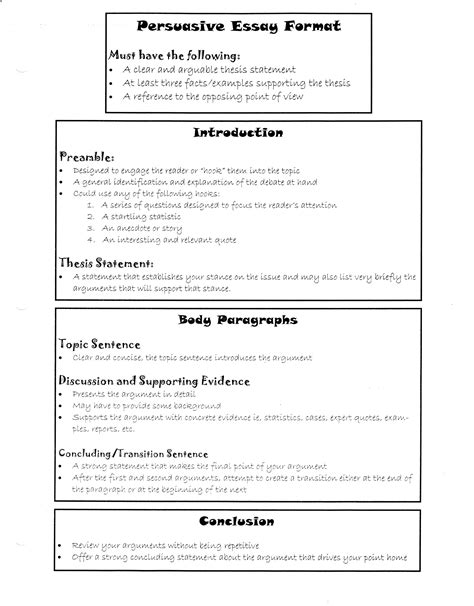 Essay Writting Format by Essay Formats Uxhandy