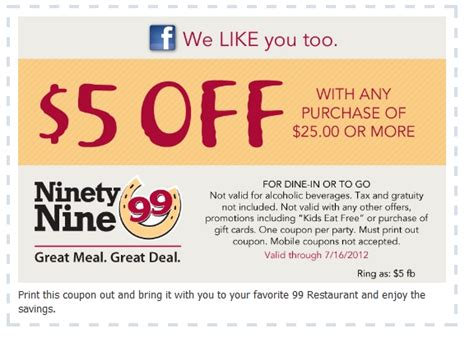 printable restaurant coupons honolulu 99 restaurants coupons oct printable coupons online