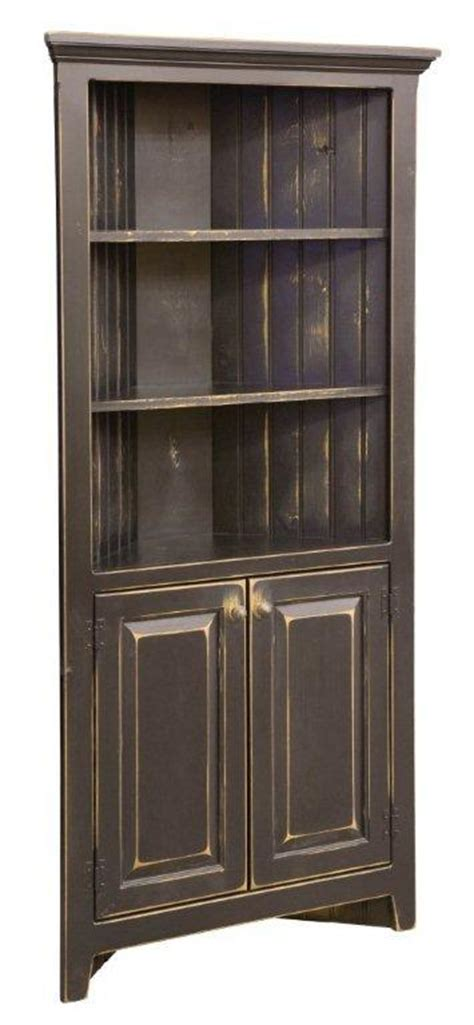 Corner Cabinet Hutch by Pine Wood Corner Cabinet Hutch