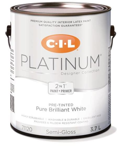 cil 174 platinum 174 interior paint pre tinted brilliant white 3 78 l walmart ca