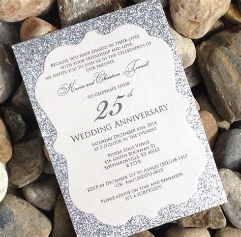 25th wedding anniversary invitations ideas 25 best ideas about anniversary invitations on