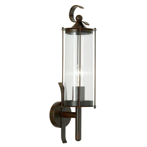 Eglo Outdoor Lighting Eglo Cornwall 1 Light Antique Brown Outdoor Wall L 20652a The Home Depot