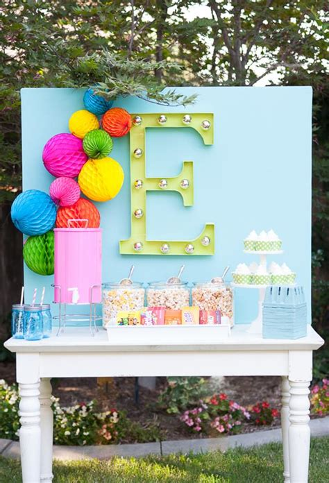 how to decorate for a birthday party at home how to decorate with diy marquee letters blissfully domestic
