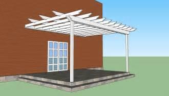 Pergola attached to house design