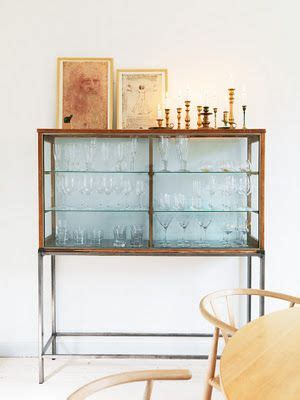 Bar Glasses Display Will Put Glass Doors On A Similar Cabinet In My Dining