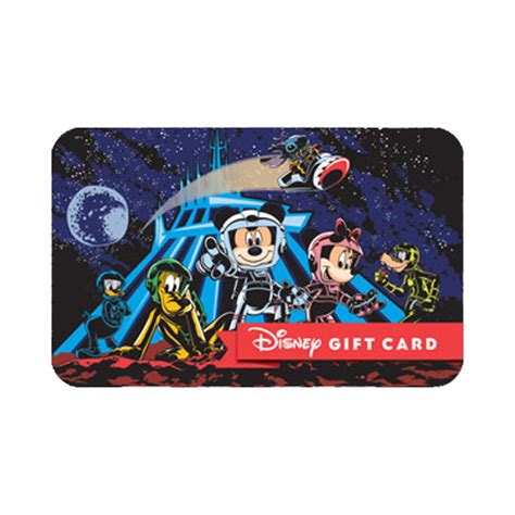 Gift Cards Fab - your wdw store disney collectible gift card space mountain fab 5