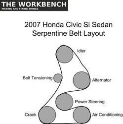 serpentine belt replacement 2007 honda civic si the