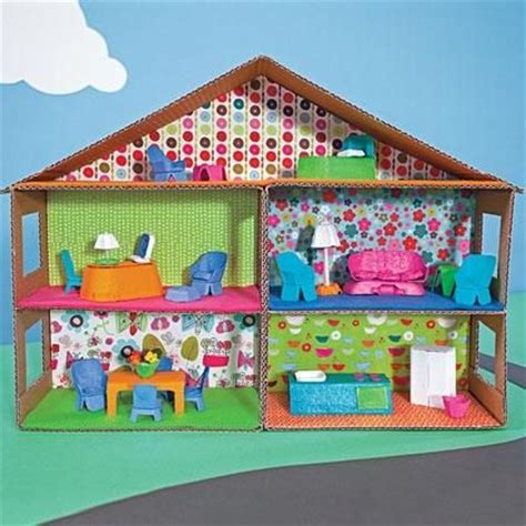kids craft doll houses shoebox crafts diy house carton make a dollhouse diy shoebox craft pinterest