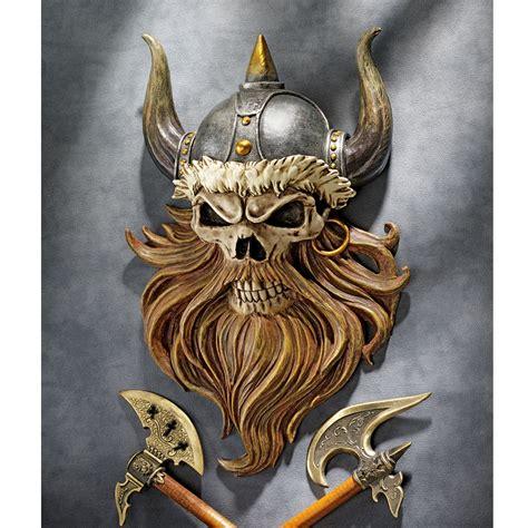 Designer Kitchen Canisters design toscano the skull of valhalla viking warrior wall