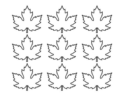 printable small leaves printable small maple leaf pattern use the pattern for