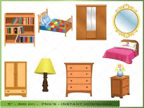 furniture clipart digital clip art bedroom commercial english kids fun the