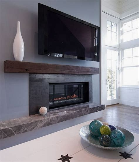 modern house living room fireplace mantle decorating