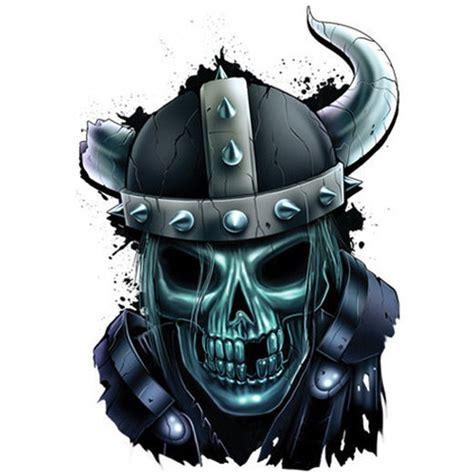 viking skull tattoos quot best of skulls quot temporary viking skull in helmet