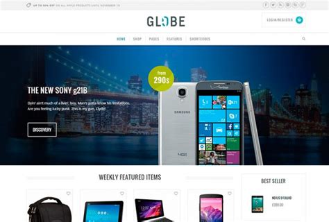 wordpress free hi tech themes globe hi tech wordpress e commerce theme