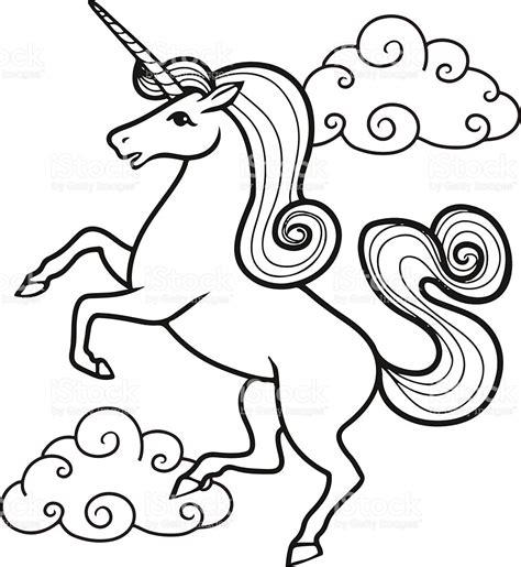 imagenes de unicornios para colorear cartoon unicorn with rainbow and clouds stock vector art