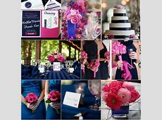 Navy Blue And Pink Wedding Ideas September Colors Themes