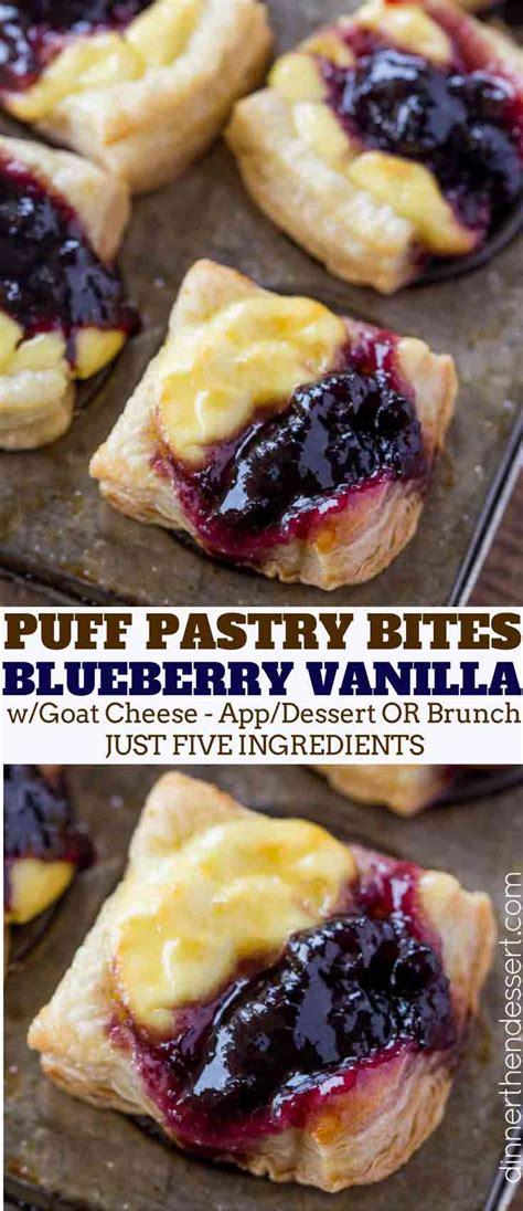 blueberry vanilla goat cheese pastry bites dinner  dessert
