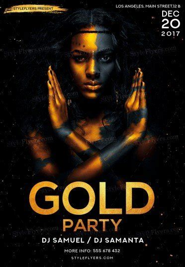 Gold Party Psd Flyer Template 21349 Styleflyers Gold Flyer Template