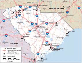 airports carolina map ambitious and combative maps of south carolina