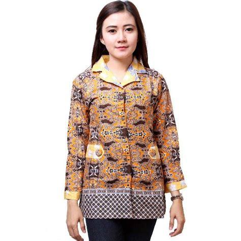 Blues Batik Wanita Kerah Jas 25 model baju batik kantor terbaru bulan ini 1000 model baju batik kantor