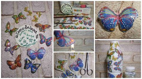 Easy Decoupage Ideas - how to make decoupage butterfly simple craft ideas