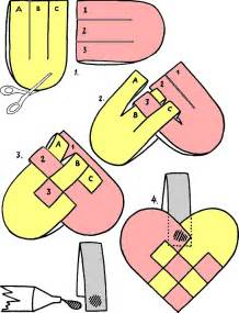 paper basket weaving template templates for paper hearts
