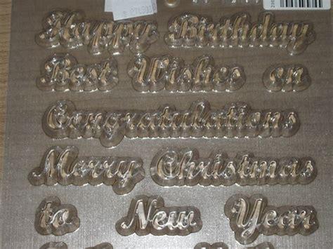 Cetakan Coklat Birthday Word loyang baking mart cetakan coklat greetings set