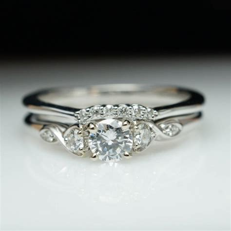 beautiful engagement ring wedding band set 14k